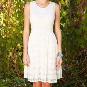 Matilda Jane White Smile Sweetly Lace Dress Sz 8